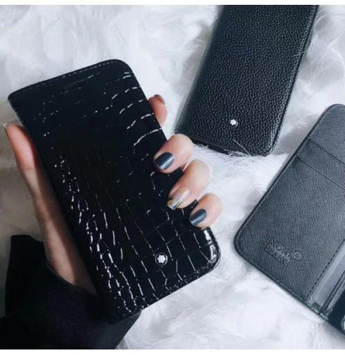 MONTBLANC IPHONE手帳型ケース XS/XSMAX/XR モンブランアイフォン8/8プラスケース モンブラン iphone7/6S/6plusケース メンズ ファッション雑貨 小物