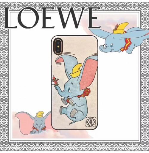 LOEWE×ダンボ iPhoneXR/XS/XSMAXケース ロエベ パロディーアイフォン8/8プラスケース  ダンボ アイホン/6S/6PLUSカバー