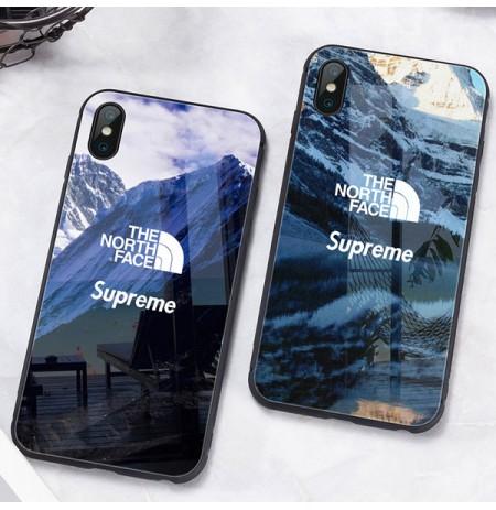 Supreme x The North Face iphoneXS MAX アイフォンx/Xsスマホケース iPhoneXRガラスケース