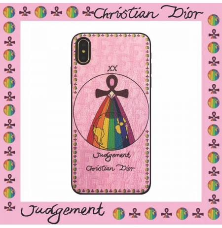 DIOR タロットカード アイフォンXS/XSMAX/XRカバー ディオール iphone8/7/6s/6plusデザインケース 女性 女子 ミステリー ストラップ