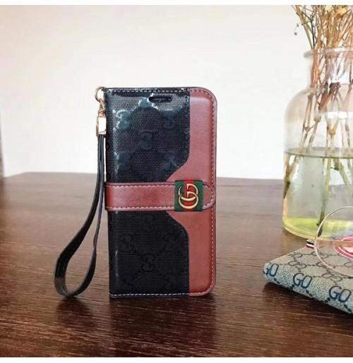 グッチ iphoneXSMAX/XS/XRケース ワンポイント金具 手帳型 スマホケース アイフォン8/7/6S/6プラスケース 高級感