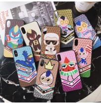 FENDI iphoneケース XS/XSMAX/XR/X パロディー風 カールラガーフェルド アイフォン8/7/6S/6プラス背面カバー ブランド GALAXY S10/S10PLUS S9/S9+ S8/S8+ NOTE8/9 携帯カバー