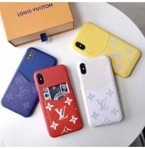 19SS ヴィトン iphoneXS/XSMAX/XRケース LV ロゴアイフォン8/7/6s/6plus背面ポケット付きケース 男女兼用