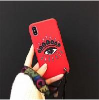KENZO ケンゾー iPhoneXs アイホンXSMAX XR X Eye 目 モチーフ アイフォン8/8プラスケース 7/6S/6PLUS スマホカバー 男女兼用