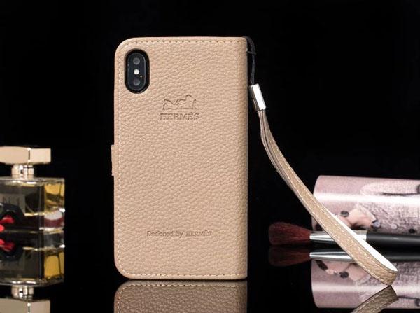 iphone X レザーケース HERMES