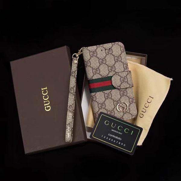 グッチ iPhone7 財布型 手帳レザーケース