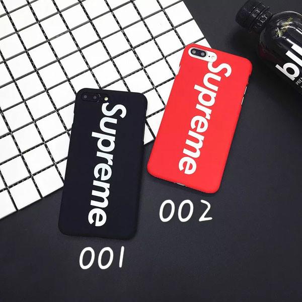 シュプリーム iPhone X/8 PLUS背面カバー