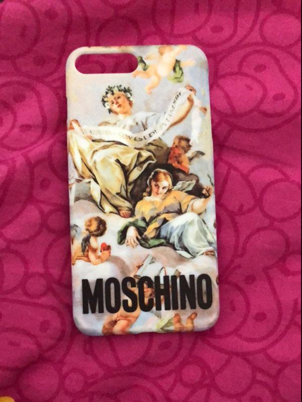 モスキーノ iphone X 背面カバー