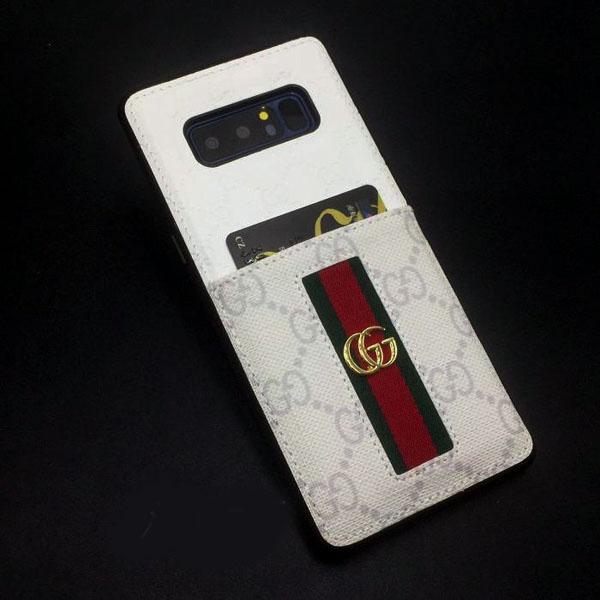 iphone X グッチ レザーケース