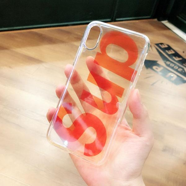 シュプリーム iphone X クリアケース