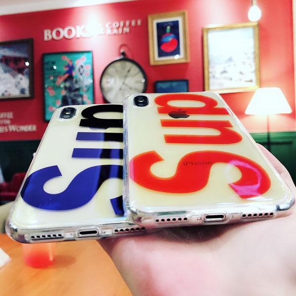 supreme アイフォン8プラス ソフトケース