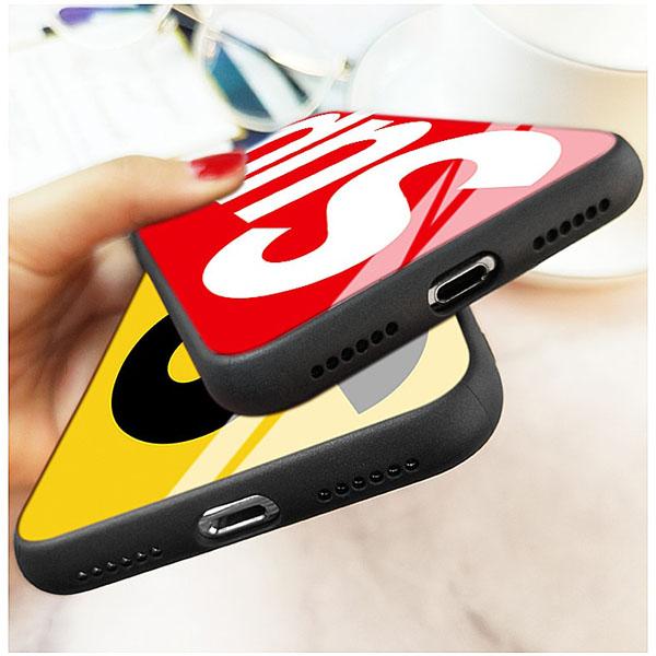 supreme iphone8 背面強化ガラス ケース