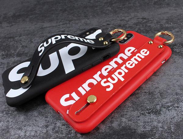 シュプリーム iPhone8+ ケース 持ち手 ベルト