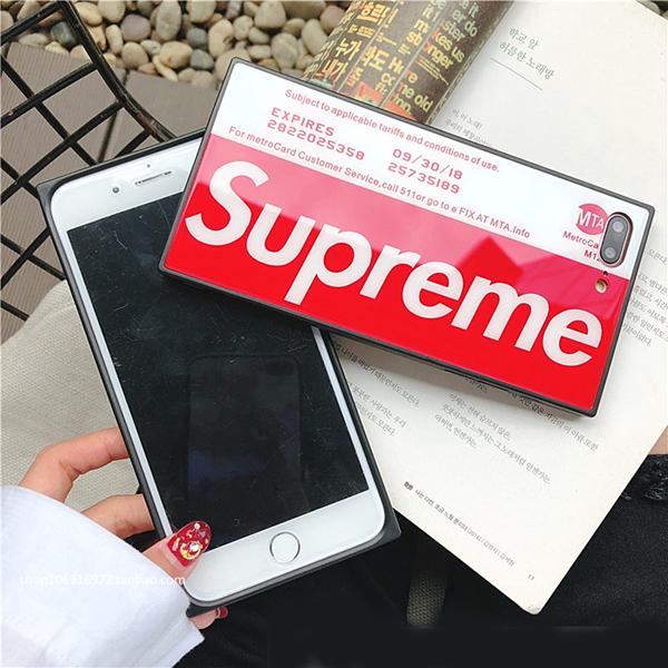 シュプリーム iphone8plus カバー