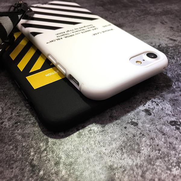 off-white iphone8 ソフトケース