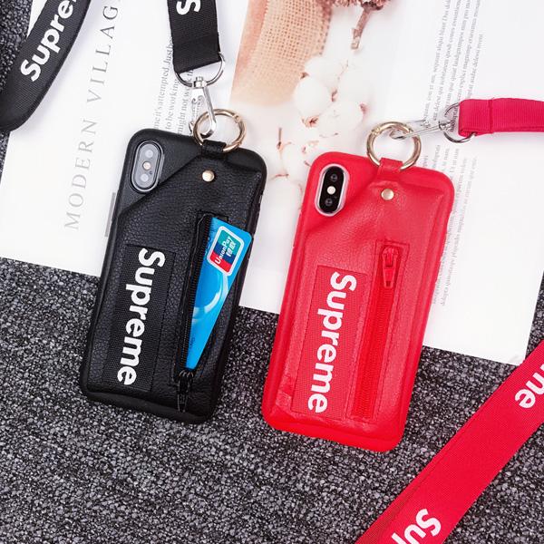 シュプリーム ケース カード収納 背面 iphonex