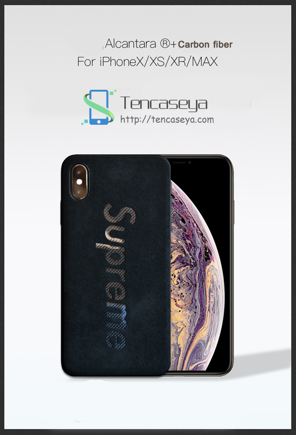 シュプリーム アルカンターラ iphoneXSケース